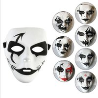 Wholesale ghost painting - free delivery Halloween Mask Ghost Step Dance Mask Exquisite hand-painted hip-hop Street Dance Mask PVC Environmental Protection Material