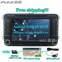 2G + 16G Android 6.0 Car DVD Player para VW Passat B6 CC JETTA Tiguan Skoda Golf con Radio BT mapa GPS 4G WIFI