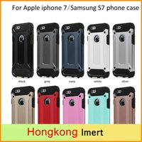 Wholesale Cell Christmas Cases Wholesale - For Apple iphone 7plus case Samsung Galaxy S7 edge Steel armor TPU PC cell phone casea & for Christmas gift