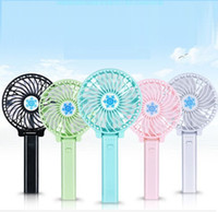 Wholesale NEW Handy USB Fan Foldable Handle Mini Charging Electric Fans Snowflake Handheld Portable For Home Office Gifts RETAIL BOX