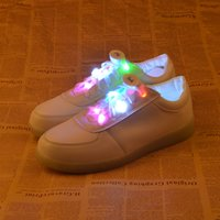 9th Gen Colorful LED Shoelaces 3 modos Light Up Glow Party Flashing Shoe Laces Nylon Shoelace 2017 Venda quente DHL FEDEX FREE SHIPPING