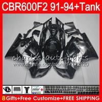 Wholesale Honda Cbr F2 Fairings - 8Gifts 23 Colors For HONDA CBR600F2 91 92 93 94 CBR600RR FS 1HM24 Silver flames CBR 600F2 600 F2 CBR600 F2 1991 1992 1993 1994 black Fairing