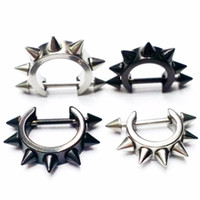 Wholesale Tragus Piercing Wholesale - 40pcs Spike Cone Nipple Shield Rings Nose Body Tragus Ear Piercing Jewelry 14G
