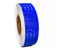 Wholesale moto decals - Warning reflective adhesive tapes blue yellow orange white red 5CM*3M car moto bike automobiles car styling decal decoration