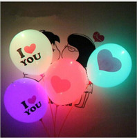 Wholesale Latex Balloons Letters - 12inch Multi-color LED Balloon Light ball Latex Helium Balloons Christmas Hollween Decoration Wedding Party Ballon Led ball Christmas Gift