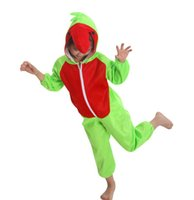 Wholesale Parrot Halloween Costume - Green Parrot Costumes Halloween Party Ideas Kid Animal Lint Perform Clothing Cosplay Apparel Theme Costume Carnival Party Supplies Gift