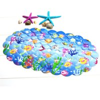 Wholesale PVC Seashell Bathroom With A Suction Cup Non Slip Pad Living Room Kitchen Bathroom Non Slip Mat CM