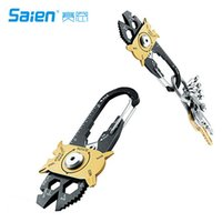 Wholesale Keychain Nail - 20 In 1 EDC Outdoor Multi Tool Stainless Steel Keychain Key Hanging Bottle Opener Nail Puller Screwdriver Wrench