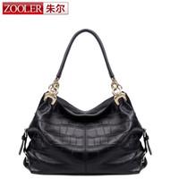 Wholesale Zooler Bags - Wholesale-2016 new!ZOOLER bags handbags women famous brands superior cowhide soft leather women shoulder messenger bag fashion black #3611