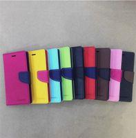 Wholesale Mercury Case Korea - 2017 South Korea Mercury M leather hit color leather case for i8 phone x shell bracket card wallet protective cover