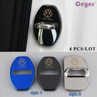Wholesale Volkswagen Car Stickers - Car door lock cover logo emblems for Volkswagen polo passat b5 b6 b7 golf 4 5 7 t5 tiguan Car Accessories