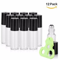 Wholesale Transparent Decals - 5ml Roller Bottles for Essential Oils Transparent Glass Roll on Bottles with Metal Roller Balls,Essential Oils Key Tool included