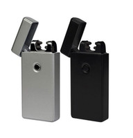 Wholesale Plasma Black - Business Gifts New Arrival Electronic Lighter Metal Windproof Flameless Double Arc Plasma Igniting Rechargeable USB lighter wholesale