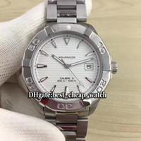 Wholesale Cheap Divers Watches - Super Clone Brand Luxury Cheap New DIVER 300M Aquaracer White Dial WAY2111.BA0928 Automatic Mens Watch Stainless Steel Bracelet Watches