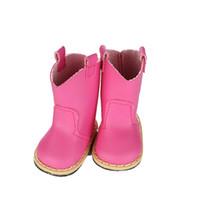 zapatos de encaje americano al por mayor-7 cm zapatos de muñeca 5 colores con cordones PU Martin botas zapatos Mini Toy Shoes1 / 6 para Zapf Baby Born American girl Doll accesorios
