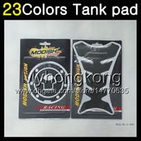 honda cbr gaz tankı pedleri toptan satış-23 Renkler 3D Karbon Fiber Gaz Tank Pad Koruyucu HONDA CBR600F4i 01 02 03 01-03 CBR600 F4i CBR 600 F4i 2001 2002 2003 3D Tank Cap Sticker