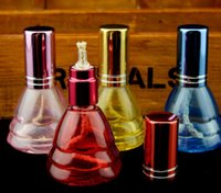 lámpara de aceite gafas al por mayor-Lámpara de alcohol de vidrio de colores, vidrio al por mayor bongs Oil Burner Glass Pipes Water Ripe Oil Rigs Smoking Free Shipping