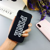 Para iphone x PINK Case Love Pink letter Lucky Print Slim Back Cover Empaistic Soft Touch TPU Cases para iphonex iphone 8 7 6 6s plus