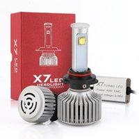 ingrosso kit di conversione fari alogeni-1Pair 80W 7200LM CREE Kit di conversione del faro LED X7 Tutte le dimensioni della lampadina LED Sostituisce le lampadine alogene HID