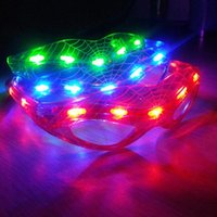 Nouveau Spiderman LED Light Clignotant Glasses Gift Cheer Dance Mask Noël Halloween Days Gift Nouveauté LED Glasses Led Rave Toy Party Glasses