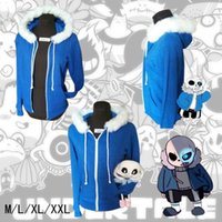 Wholesale Christmas Coats For Men - Game Undertale Sans Coat Unisex Skeleton Zipper Hoodies Anime Cosplay Sweatshirt for Christmas gift