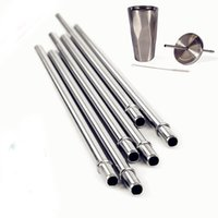 Wholesale Polishing Tumbler - Hot Selling Shiny Polish 18 8 Stainless Steel Starbuck Straws Reusable Metal Drinking Straws for 30oz Tumbler