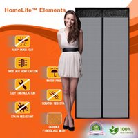 Wholesale HomeLife Elements Premium Fire Retardant Fiberglass Insect Screen Fits Doors Up To x79 inch Pets Friendly Magnetic Easy Screen Doors