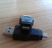 Wholesale Mini Male Plug - Cell Phone Adapters Converter USB 2.0 Mini A 5 Pin 5p Male Plug to Micro B 5 pin Adapter Travel Diminutive Portabl