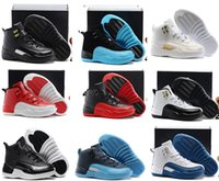 Wholesale Hot Babys - Christmas Gift Cheap Hot Air Retro 12 Kids basketball shoes for Boys Girls sneakers Children Babys 12s running shoes Size 11C-3Y
