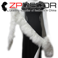 Wholesale White Marabou - Leading Supplier ZPDECOR 2yards lot 4-6inch(10-15cm)Snow White Dyed Marabou Turkey Fluff Feather Fringe Trim