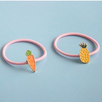 Carino fasce per capelli ananas per bambini bambine Carrots pony hair bands placcato oro copricapo New Fashion design hair Jewelry for gi
