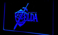 Wholesale Video Sign - Ls223-b-Legend-of-Zelda-Video-Game-Neon-Light-Sign Decor Free Shipping Dropshipping Wholesale 6 colors to choose