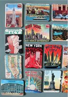 york gummi großhandel-24 Teile / los Gummi Kühlschrankmagnet New York Landschaft Wandaufkleber Dekoration El Muro Adherirse Dekorative Kühlschrank Magnet