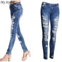 Wholesale Stretch Pants Price - Wholesale- Cheap Price ! Hot 2017 New Fashion LadiesNew Sexy Women Denim Skinny Pants High Waist Stretch Jeans High Quality Dec 15