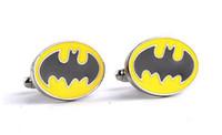 Wholesale Mark Batman - Superhero Jewelry Drops Of Oil Batman Mark Cuff Links