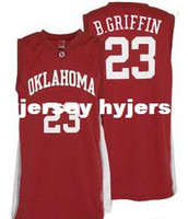 Wholesale Custom College Shirts - Cheap Mens #23 Oklahoma Sooners Blake Griffin College Basketball Jerseys Red Retro Stitched Sports Jersey Shirt Custom any Number