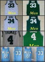 Wholesale Cheap Piercings - Mens #33 Retro Larry Bird Jersey Throwback Stitched Wholesale Cheap High Quality #34 Paul Pierce Jersey