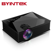 Wholesale Portable Projector For Iphone - Wholesale-BYINTEK BT460 Home Theater Mini Portable gM60 HD 1080P HDMI uNIc uC46LCD Mobile WIFI LED Projector Proyector Beamer For Iphone