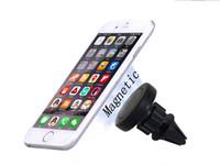 phone cellphone black оптовых-Универсальный 360 градусов вращающийся магнитный воздухоотводчик автомобильный держатель для телефона iphone 7 Galaxy S8 мобильного телефона, черный