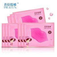 Wholesale lip collagen online - 500pcs PILATEN Crystal Collagen Lip Mask Collagen Protein Crystal Women Replenishment Lip Film Lip color anti cracking moisturizing