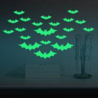 creative bats skin wall sticker window decals halloween decoration glow in the dark home decor removable art mural uk