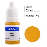 maquillage permanent jaune achat en gros de-Gros-chuse C403 maquillage semi-permanent d'encre de tatouage de maquillage de couleur de pigment de colorant pour la couleur de correcteur jaune lèvres cosmétiques de sourcil