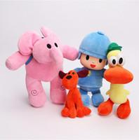 Wholesale Hobby Anime - 4pcs lot 12-26cm Full Set POCOYO Cartoon Stuffed Animals Plush Toys Hobbies Loula Elly Pato POCOYO plush toy