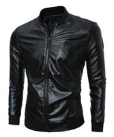 Wholesale Man the spring and autumn period and the han edition of the new trend of fine personality pure color big yards short leather coat M xl
