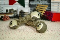 Wholesale Large Rope Balls - cotton rope double ball pet cotton rope toy large dog molar dog toys