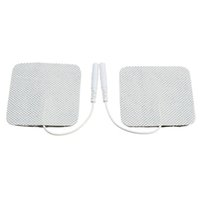 Wholesale Digital Therapy Machine Slim Massager - 20pcs lot Electrode Pads for Tens EMS Unit with 2mm Connector for Slimming Massage Digital Therapy Machine Massager 5x5cm