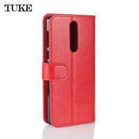 Wholesale Tas Pu Leather - TUKE For Nokia8 TA-1012 Luxury Flip Leather Case For Nokia 8 Wallet Book Cover Coque Silicone Phone Bag Stand Card Slots Funda