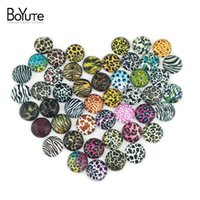 Wholesale Blank Signs - BoYuTe (48 pieces lot) 12mm Round Pattern Cabochons Mix Leopard Figure Sign Image Glass Cabochon For Earring Blank Settings xl3064