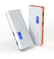 banco de energía para teléfonos celulares al por mayor-PowerBank portátil 10000mAh Banco de energía Pantalla USB doble USB Pantalla LED de luz Batería externa Cargador para Samsung Xiaomi Celular