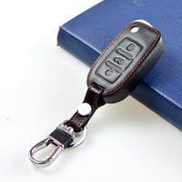 Wholesale Passat Cc Leather - For Volkswagen VW Jetta MK6 Tiguan Passat Golf POLO cc bora 3 Button Car Key Leather Case Protection Decoration Accessories
